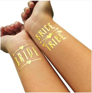 12pcs Mixed dama de honra da noiva da Tribo Tattoo Etiqueta para a noiva a ser Bachelorette Hen Shower Bridal Party Decor Valentines Day Gift