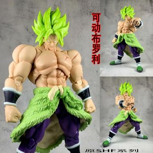 SHF Dragon Ball giocattolo animato Super Saiyan SHF Broly Forte Guerra Figure Action Figure ornamenti all'ingrosso
