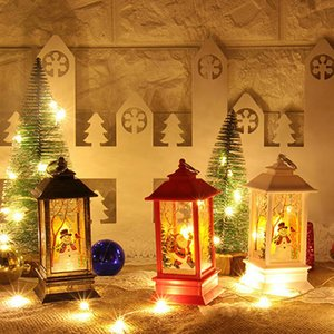 Christmas Vintage Castle Light Christmas Tree Window Wall Lantern Lamp Holiday Decoration Ornament Animal