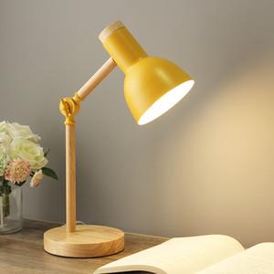 Nordic Table Lamp Modern Bedroom Bedside Light Kids Children Office Book Lamp Reading Study Lamp Industrial Desk Lighting US EU Plug RW266