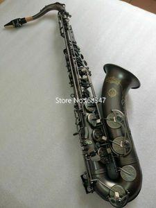 Vendita caldi di marca giapponese SUZUKI Bb Tenor Saxophone Nero Nickel Tyco professionale Strumento musicale con Mounthpiece