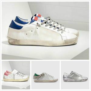 Ouro Sneakers clássica Branca Do-old Itália de luxo da marca Lantejoula sujo Shoes Designer Superstar Homem e mulheres calçados casuais caixa Original