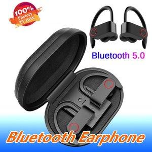 Mic ile Kutu Bluetooth Kulaklık V5.0 Gerçek Stereo Sweatproof Earbuds Şarj A9 Kablosuz Bluetooth Kulaklık TWS En