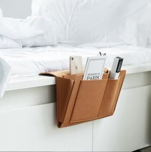 Sentiu cabeceira saco de armazenamento multifuncional Sofá Titular Hanging Armazenamento Organizer Box Revista entregas remoto Controll Storage Bag LXL1270-2
