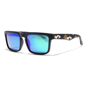 Eye-catching Function Polarized Sunglasses For Men Matte Black Frame Fit. Painting Temples Play-Cool Sun Glasses With Case