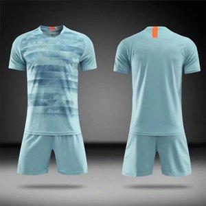 Blank Fußballjerseys 2019 Anzug Fußball Trainingsanzug Fußball-Jersey-Shorts Sportswear Kundenspezifischer Fußball Jersey Anzug 004
