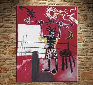 Jean Michel Basquiat Graffiti Art # 55 Home Decor Artesanato / HD impressão pintura a óleo sobre tela Wall Art Canvas Pictures 200304