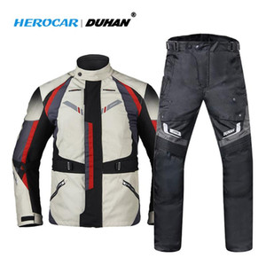 DUHAN Motorcycle Jacket Winter Cold-proof Motorcycle Pants Moto Jacket Suit Waterproof Touring Clothing Set Protective Gear