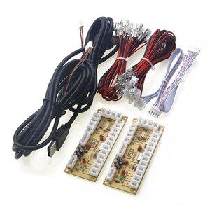 배 게임 컨트롤러 조이스틱 게임 액세서리 제로 지연 아케이드 USB ENCODER PC 조이스틱을위한 5PIN 조이스틱 2.8MM 버튼