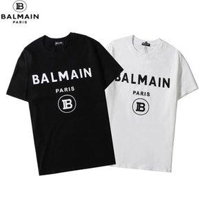 frete grátis Mens designer de T-shirt DFhomens e mulheres T-shirt do hip-hop marca de moda BALMAIN Original Design T-shirt de impressão Carta ocasional