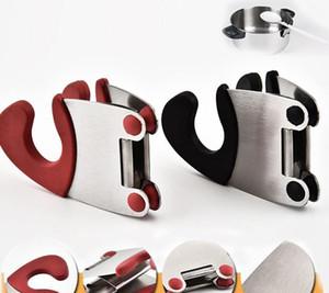 Yeni Mutfak Kaşık Pot Klip Kaşık Pot Tutucu Handy Mutfak Gadget Kaşık Dinlenme Organizatör Mutfak Aracı
