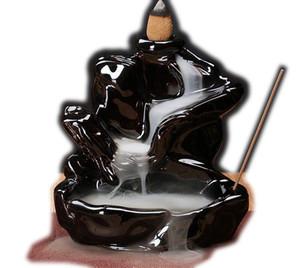Супер Deal Портативный Backflow Курильница Водопад Керамические Обратный поток Благовония держатель Home Decor рефлюкс курильница 20шт