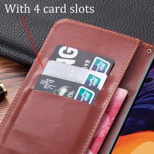 Lüks Deri Flip Book tarzı Vaka İçin TCL PLEX Vintage Koruyucu Cüzdan Standı Kart Sahibi Vaka tcl plex 6,53 telefonu çantası