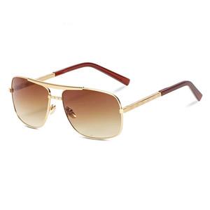 Klasik modelde 0259 açık yeni moda klasik 0259 güneş gözlüğü Attitude güneş gözlüğü altın çerçeveli kare metal çerçeve Vintage tarzı