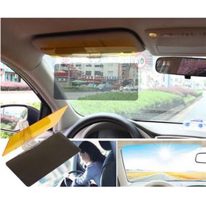 ضوء الشمس في السيارة مضاد لضوء الشمس المبهر Goggle Day Night Vision Driving Mirror UV Fold Flip Down Clear View 5