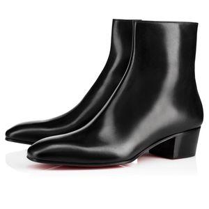 Vendita calda- Stivaletti alla caviglia Huston Stivali inferiori rossi da uomo Stivali retrò Cool Silhouette Vestito da festa Camminare appartamenti