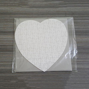 Sublimation Blank Heart Puzzles DIY Puzzle Heart love Shape Puzzle Hot Transfer Printing Blank Consumables Child Toys Gifts