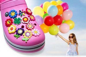 500pcs lot Mixed Random Shoe Charms Cartoon PVC Figure Shoe Accessories Croc Decorations JIBZ Shoe Buckles Kids Xmas Gift