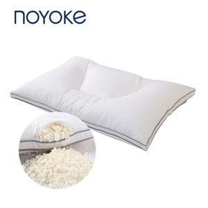 Noyoke naturale tagliuzzato cuscino in lattice cuscino ortopedico con Organic Cotton Casing T200603