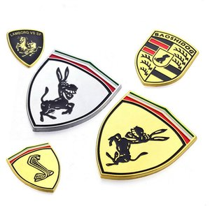 New 3D metal car logo is applicable to automobile head, tail, body and steering wheel for Ford BMW Ferrari