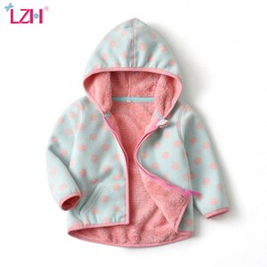 LZH Kids Jacket 2020 Autumn Winter Jacket For Girls Hooded Warm Fleece Coat For Girl Clothes Children Print Cardigan Velvet Coat