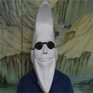Divertente Bianco Luna Uomo Donne testa piena Latex Maschera Darth Maul sfera di costume di Halloween del partito del fronte di Cosplay mascherina della sfera Masquerade Mask