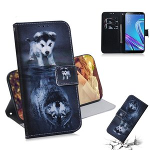 Wolf and Dog Pattern Coloured Drawing Horizontal Flip Leather Case for Asus Zenfone Max ZB555KL, with Holder & Card Slots & Wallet