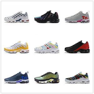 Nike Shoes YeniVapormaxArrivelTN Artı Erkekler Beyaz Siyah Turuncu Volt Altın Gümüş Bred Erkek Spor Sneak için Ayakkabı Koşu