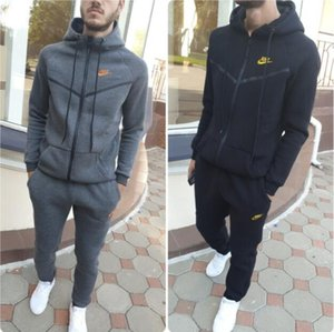 2020 Fashion Designer Men Tracksuit Sweatshirts Pants Suits Autumn Winter Running Clothing Outerwear Sports Casual Jacket Coat Trousers Sets