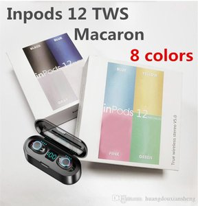 Hot Wireless Headphones Bluetooth i12 TWS inpods 12 Macaron V5.0 auricolari stereo Sport sweatproof cuffie auricolari di tocco