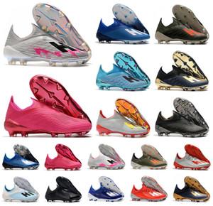 2020 Hot X 19+ 19,1 FG Futebol Homens Deslizamento-Em Football Rosa 19 + x futebol botas de futebol Sapatos Grampos Tamanho US 6,5-11