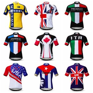 UK Cyclisme Jersey hommes Vélo Jerses 2020 route sport vêtements MAILLOT vélo VTT Racing Haut France Canada États-Unis Norvège Australie