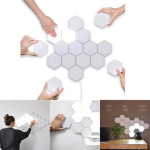 Bricolaje Quantum luces libremente empalme sensible al tacto LED de la lámpara de pared del panal de nido de abeja de bricolaje de luz LED de la noche para el hogar decoración del pasillo del pasillo