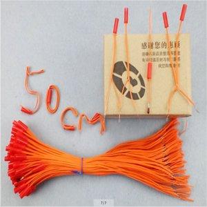 Le fil de cuivre 0.45mm ligne jaune de l'étape récepteur 0,5m sécurité 2020 nouveau style système de tir des feux d'artifice Longueur match connexion filaire FCC