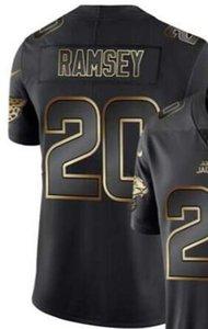 Hommes Jacksonville 7 20 Jersey Shirts vapeur limitée Golden Black Jersey Football américain Jersey 01