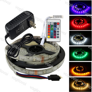 Led Light Strip 5050 DC12V 600LED Multicolor Fiexble Luz 24keys impermeável Super Bright Para HDTV TV desktop EUB fundo da tela