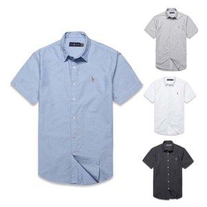Sıcak yeni yaz erkek Yaka kısa kollu tişört düz renk rahat Iş gömlek gelgit erkek moda basit POLO gömlek rahat
