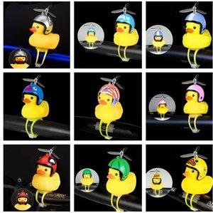Праздник освещение Мультфильм желтого Duck Head Light Stand Сияющий Велосипеды колокол Handlebar кольцо свет велосипед колокол велосипед Handlebar шлет