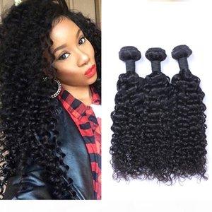 Indiano Jerry Curl 100% non trattati capelli umani del Virgin tesse 8A qualità di Remy estensioni dei capelli umani capelli umani tesse tingibili 3 fasci