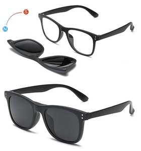 With 5 clip on Polarized Sunglasses Magnetic Adsorbent Glasses Frame Men Women Optical Spectacle Frame myopia eyeglasses