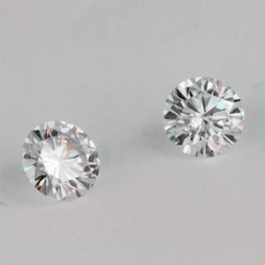 Oferecer o certificado de teste positivo IJ redonda cor Brilliant 6,5 milímetros Corte 1ct VVS Clarity Lab Grown Moissanite Diamante Para Brinco