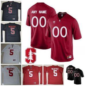 Özel Stanford Kardinal Futbol Herhangi İsim Numarası Siyah Kırmızı Beyaz 3 KJ Costello 72 Walker Küçük 19 Arcega-Whiteside Ertz Elway Luck Jersey