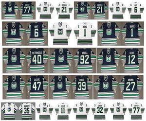 Chandails Vintage Hartford Whalers 39 KELLY CHAS 6 Burt 1 SEAN BURKE 40 PIETRANGELO 92 JEFF O'NEILL 12 TIM KERR 47 Giguere 27 BRUN CCM Hockey