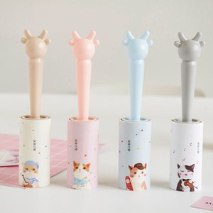 Reusable Clothes Coat Sticky Lint Roller Dog Pet Hair Remover Cleaning Device Geometric pattern printed Lint Rollers Brush