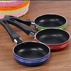 Acciaio inossidabile Mini Crepe Pot antiaderente Pan Pan Piccolo POT delle uova da cucina Omelette Pans resistente al calore vaschetta di alluminio multifunzionale Kitche