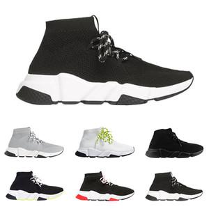 2019 Balenciaga scarpe firmate Speed Trainer luxury sneakers di alta qualità nero bianco glitter verde moda calze stivali scarpe casual runner traspirante