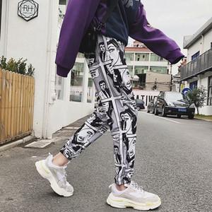 Zk sueltos deportivos pantalones casuales hombres viga pie harem pantalones cómics joggers impresos pantalones para hombre hip hop pantalones casual streetwear c19041201
