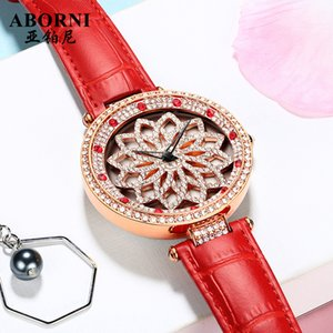 Time to Run Watch Womens Simple Temperament Genuine Brand Full Diamond Large Dial 2020 New Babys Breath Female Watch