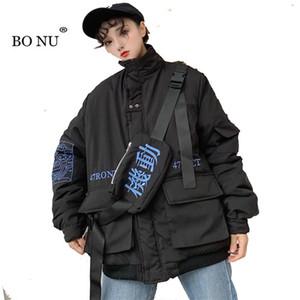 BONU veste à manches longues pour les femmes Slim Turn Down Veste d'hiver Casual Harajuku féminin manteau de Cardigan Manteau de base des femmes de collier