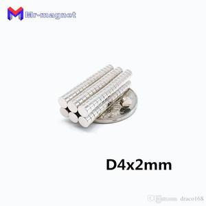 2019 imanes 100Pcs 4x2 neodimio permanente N35 NdFeB Super Strong potente piccola rotonda magnetici dischi magnetici da 4 x 2 millimetri